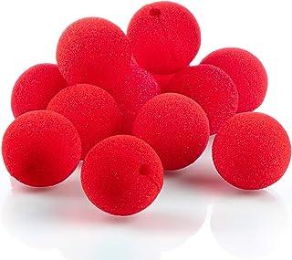 com-four® 12x nariz de payaso de espuma - nariz falsa en rojo para disfraces, Ø 5 cm, para carnaval, carnaval u otras fiestas temáticas (12 piezas)