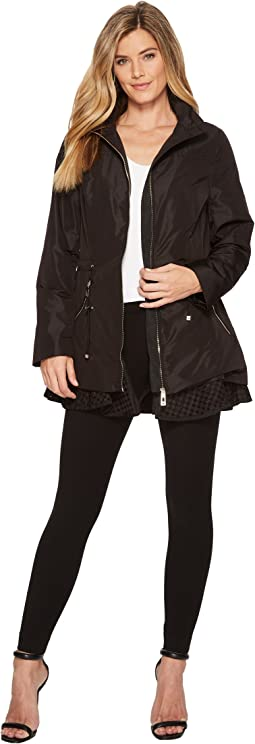 Ivanka Trump Eylet Hem Hooded Rain Packable