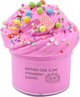Dorothyworld Newest Strawberry Birthday Cake Slime with Charm Sludge Scent Toy for Boys and Girls( 7OZ) 200ML