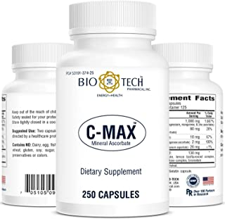 C-Max Vitamin C Dietary supplement ascorbic acid essential nutrient powerful antioxidant for immune system natural citrus ...