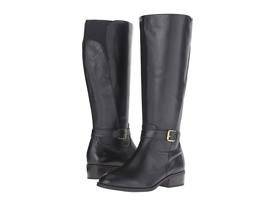LAUREN Ralph Lauren Makenzie Wide Calf (Black Burnished Calf) Women