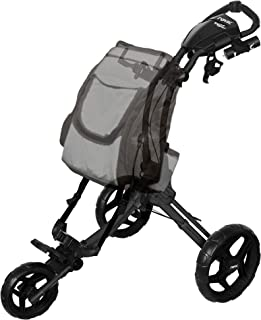 Rovic RV1D 3-Wheel Disc Golf Push Cart | Fits All Disc Golf Backpacks