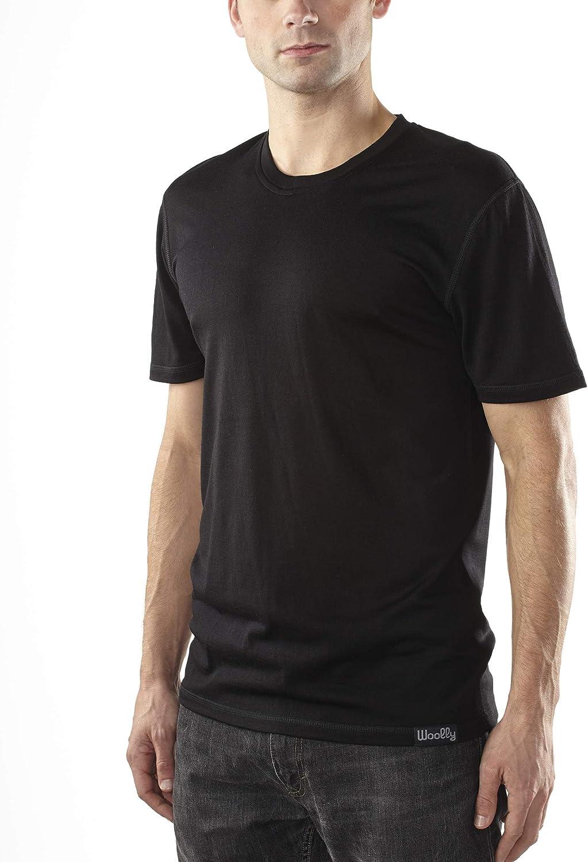 Woolly Clothing Men's Merino Wool Crew Tee Shirt Max 67% OFF Gifts - Ultralig Neck