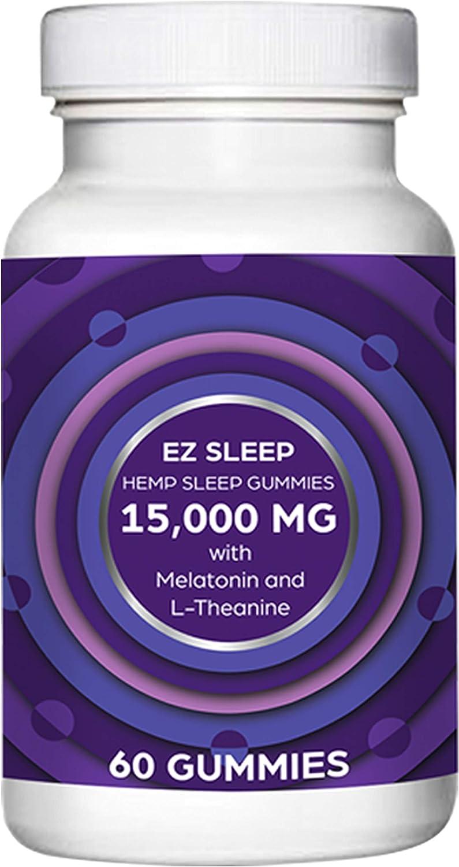 Miami Mall EZ Sleep Complete Free Shipping Hemp Gummies for Melatonin and Deep with