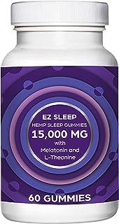 EZ Sleep Hemp Sleep Gummies for Deep Sleep | with Melatonin and Theanine! Relaxation, Anxiety, Stress, Pain and Sleep Reli...