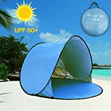 Easy Set-up Beach Tent Automatic Pop Up Instant Beach Shade Portable Outdoors Portable..