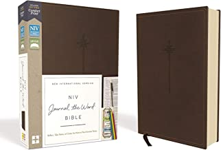 Download Book NIV, Journal the Word Bible, Leathersoft, Brown, Red Letter, Comfort Print: Reflect, Take Notes, or Create Art Next to Your Favorite Verses PDF