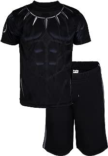Avengers Black Panther Spiderman Hulk Boys' Athletic T-Shirt & Mesh Shorts Set