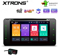 XTRONS Android 9.0 Car Stereo Radio DVD Player Double Din GPS Navigation Octa Core 4G RAM 32G ROM 6.95 Inch Touch Screen Head Unit Supports WiFi OBD2 TPMS for Toyota RAV4 Corolla with DVR Included