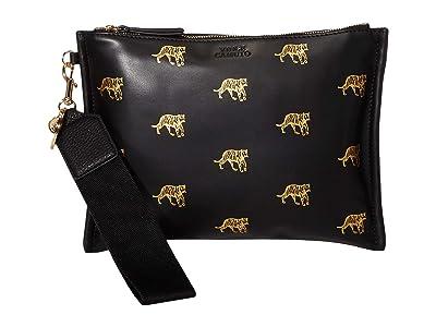 Vince Camuto Sosia Clutch (Black/Fools Gold) Clutch Handbags