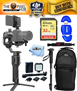 DJI Ronin-SC 3-Axis Gimbal Stabilizer Action Bundle with 32GB SD, Sling Backpack, LED Light Kit, Monopod/Selfie Stick and More