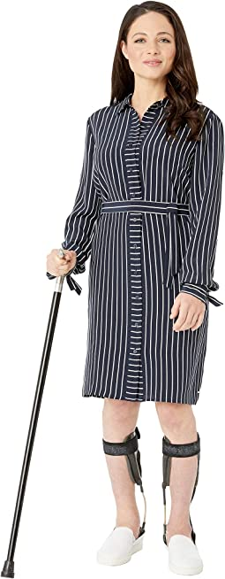 Shirt Dress with Magnetic Buttons