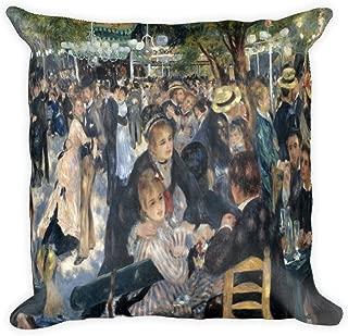 Pierre-August Renoir's Bal du moulin de la Galette 0015 - Square Pillow Case w/ stuffing