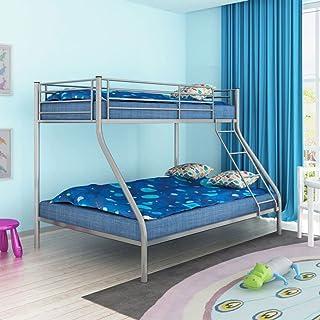 Vislone Cama Litera para Niños Cama Juvenil Infantil Metal 200x90/200x140cm Gris