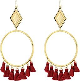 The Ania Tassel Hoop Earrings