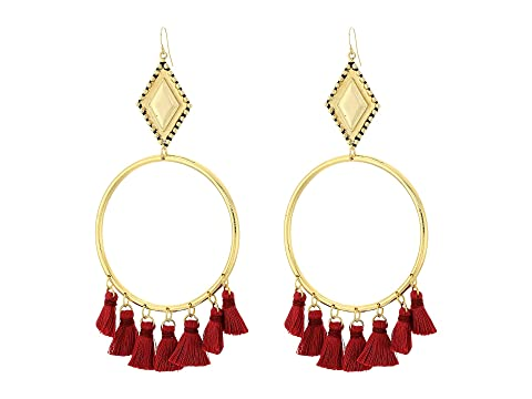 VANESSA MOONEY The Ania Tassel Hoop Earrings, Gold