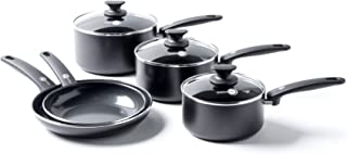 GreenPan Cookware Set, Non Stick, Toxin Free Ceramic Saucepans - Induction & Oven Safe Cookware - 5 pcs