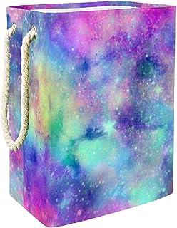 Vockgeng Ciel étoilé Rose Galaxie Bleue Panier à Linge bébé Panier de Rangement imperméable Pliable de Jouets de Jouets de...