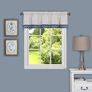 "Achim Home Furnishings, Blue Camden Window Curtain Valance, 58"" x 14"""