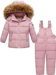 ZOEREA 2 Piezas Traje de Nieve Niños Abrigos Chaqueta con