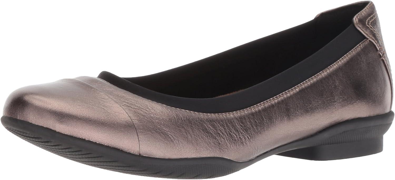 Clarks Damen Neenah Garden, Pebble Metallic Leather, 38.5 EU