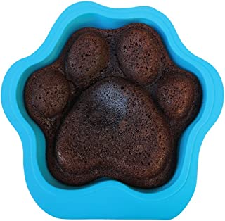 Puppy Paws and Bones Large Paw Edition Silicone Dog Paw Shape Cake Pan 12X11X2.5 Inches