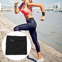 Rits-polsband, Sport-pols-zweetband met zak voor mannen en vrouwen, Gym Running Basketball Sporten