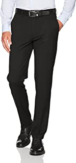 J.M. Haggar Men's Stretch Superflex Waist Slim Fit Flat Front Dress Pant