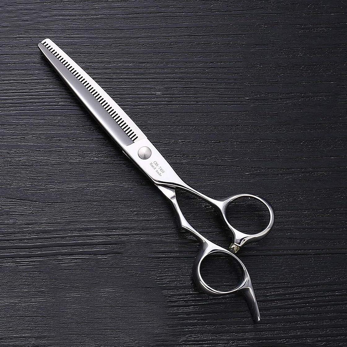 プラグセミナー廃棄7インチのステンレス鋼ペットトリマーの特別なはさみ、ペット歯の薄いはさみ モデリングツール (色 : Silver)