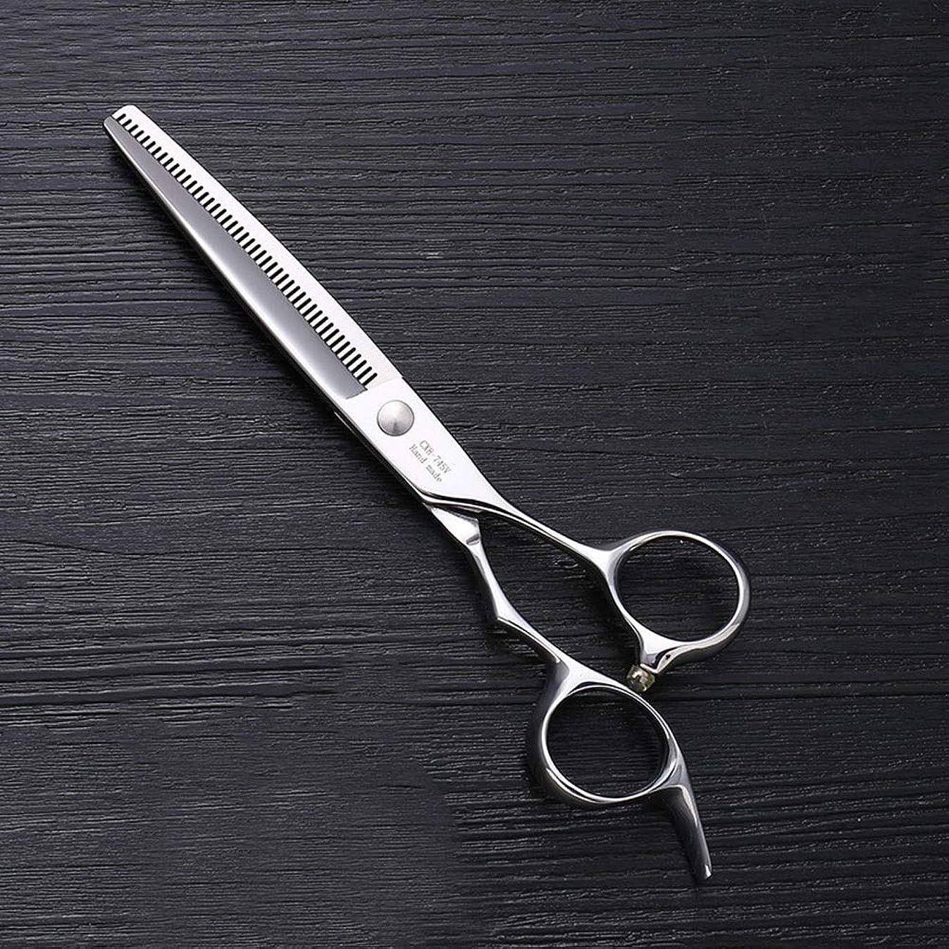 バッテリー第五アクセント7インチのステンレス鋼ペットトリマーの特別なはさみ、ペット歯の薄いはさみ モデリングツール (色 : Silver)