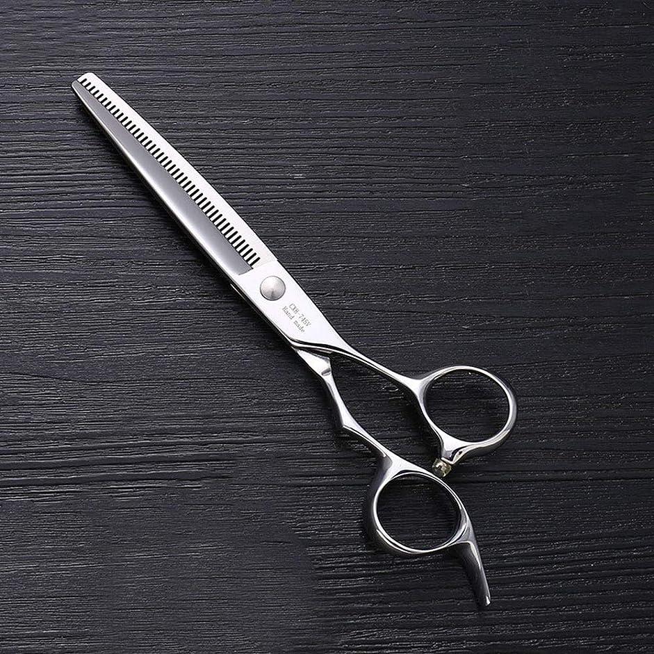 ベンチ定規ヒョウ7インチのステンレス鋼ペットトリマーの特別なはさみ、ペット歯の薄いはさみ モデリングツール (色 : Silver)