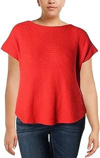 Ralph Lauren Womens Ribbed Pullover Sweater, Orange, X-Large