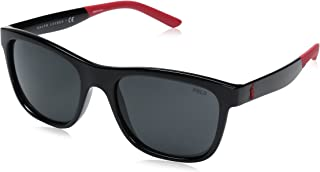 Polo Ralph Lauren Men's Injected Man Wayfarer Sunglasses,...