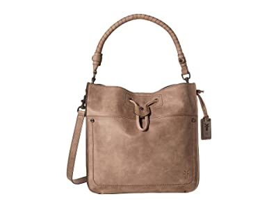 Frye Demi Hobo (Grey Smooth Pull Up) Hobo Handbags