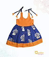 Indian Traditional Ethnic Baby dress - Navy Blue Mustard - 19008