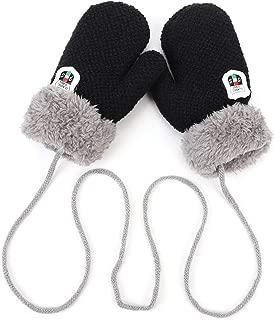 pour lhiver JINTN Gants Chauffants en Tricot Double Couche pour Enfants avec Corde pour Les Enfants de 1 /à 4 Ans