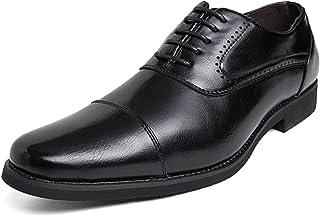 [DUKLUCAK] ビジネスシューズ メンズ ウォーキング 防水高級レザー 黒 ブラック ブラウン 軽量 大きいサイズ 24cm~29㎝ 革靴 紳士靴 ストレートチップ 外羽根 防滑 防臭 防菌 通気