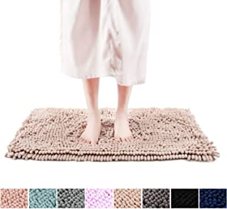 Freshmint Chenille Bath Rugs Extra Soft Fluffy and Absorbent Microfiber Shag Rug, Non-Slip Runner Carpet for Tub Bathroom Shower Mat, Machine-Washable Durable Thick Area Rugs(20