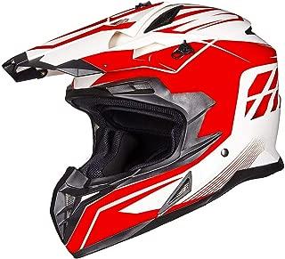 ILM Adult ATV Motocross Off-Road Street Dirt Bike Full Face Motorcycle Helmet DOT Approved MX MTV Suits Men Women (L, Red White)