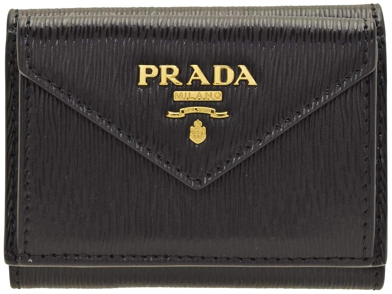 [プラダ] PRADA 財布 折財布 三つ折り ミニ コンパクト レザー アウトレット 1MH021 [並行輸入品]