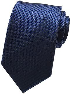 Men's Solid Color Ties Fine Stripe Smooth Graduation Formal Suit Necktie