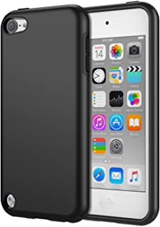 MoKo Funda Compatible con iPod Touch 2019/ iPod Touch 7 - [Anti Drop] Hard Polycarbonate + Silicone Protector Bumper Funda para Apple iPod Touch 6th / 5th Generacón, Negro