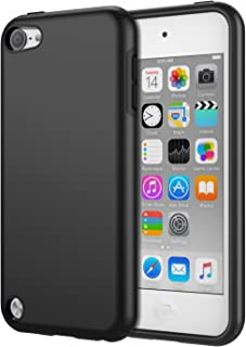 MoKo Case Fit iPod Touch 2019 Released iPod Touch 7 / iPod Touch 6 / iPod Touch 5, 2 in 1 Shock Absorbing TPU Bumper Ultra Slim Protective Case with Hard Back Cover - Black