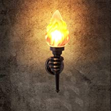 Mpotow Retro Wall Light Creative Bar Nostalgic Cafe Aisle Torch Industrial Wind Outdoor Waterproof American Exterior Wall Lamp (Size : Right hand)