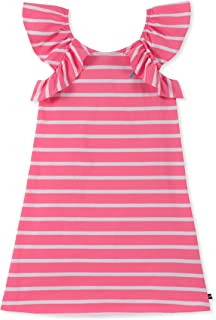 Nautica Girls' Ruffle Striped Sleeveless Dress