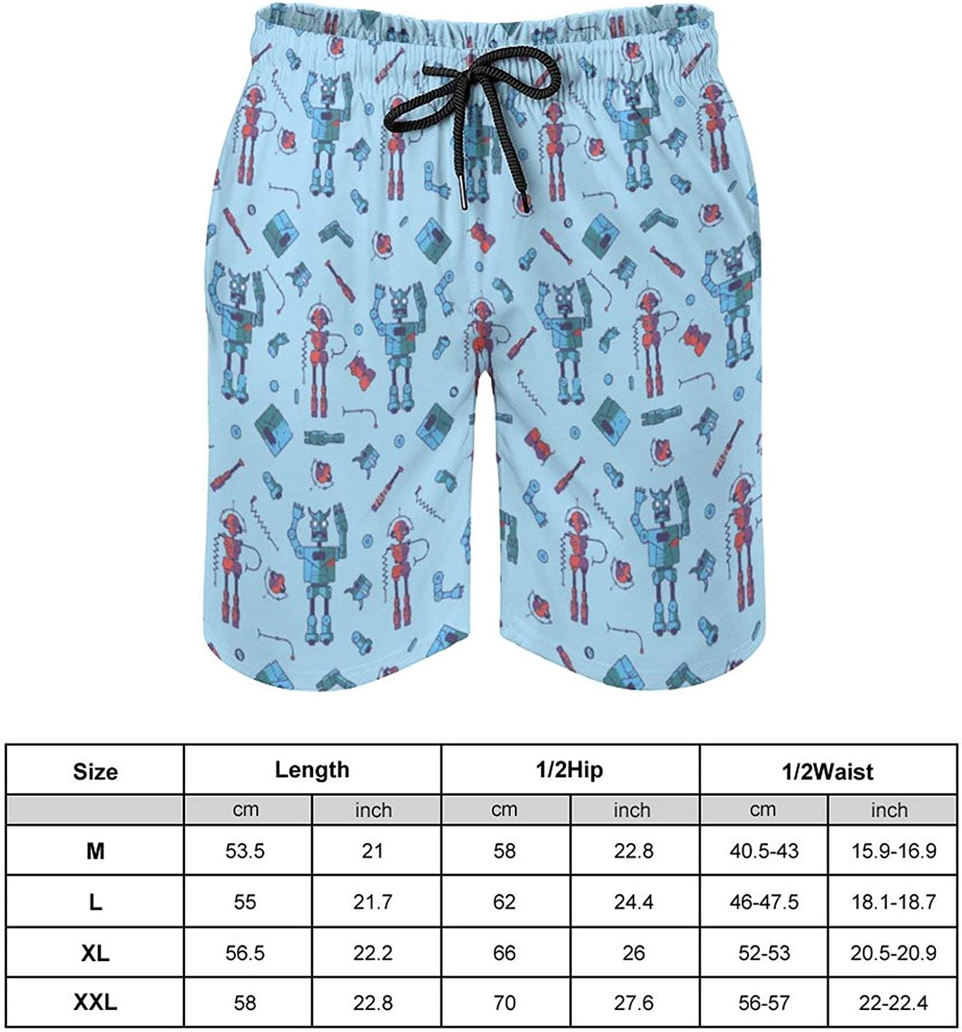 SWEET TANG Mens Swim Trunks Quick Dry Beach Pants with Mesh Lining