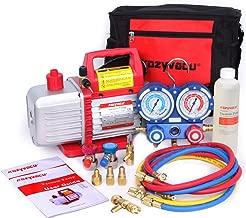 Best vacuum pump and manifold gauge set Reviews