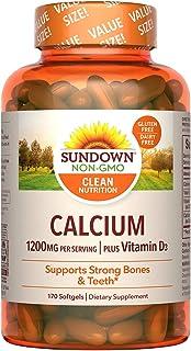 Sundown Calcium 1200 Plus Vitamin D3 1000 IU, 170 Liquid Filled Softgels
