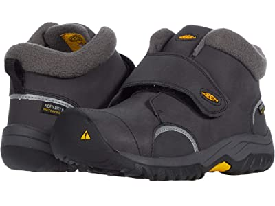 KEEN Kids Kootenay III Mid WP (Toddler/Little Kid) (Black/Keen Yellow) Boy