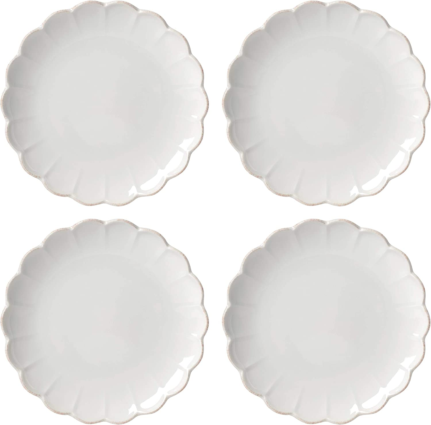 Lenox French Perle 5% OFF Scallop 4-Piece Accent Wh LB Plate San Jose Mall 4.60 Set